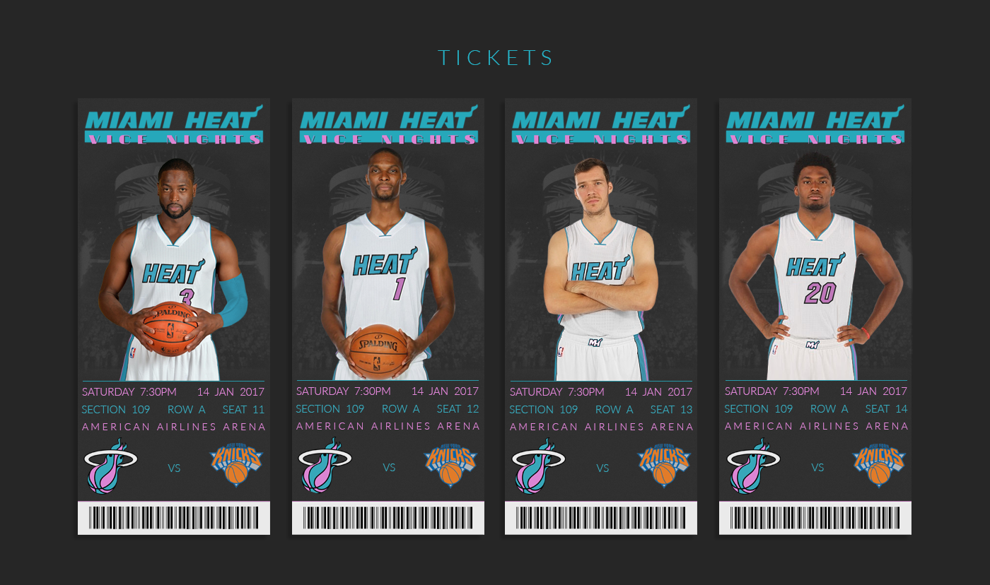 new concept 5886e 34596 Miami Heat - Vice Nights Alternate Design Project on Behance