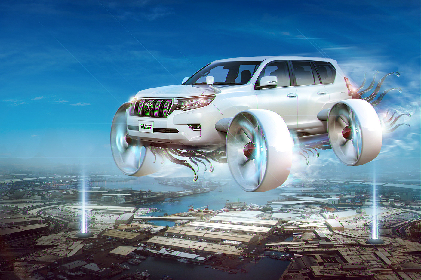 Underwater Toyota On Behance Land Cruiser Key Approximate Stages Of Creating A Series Posters