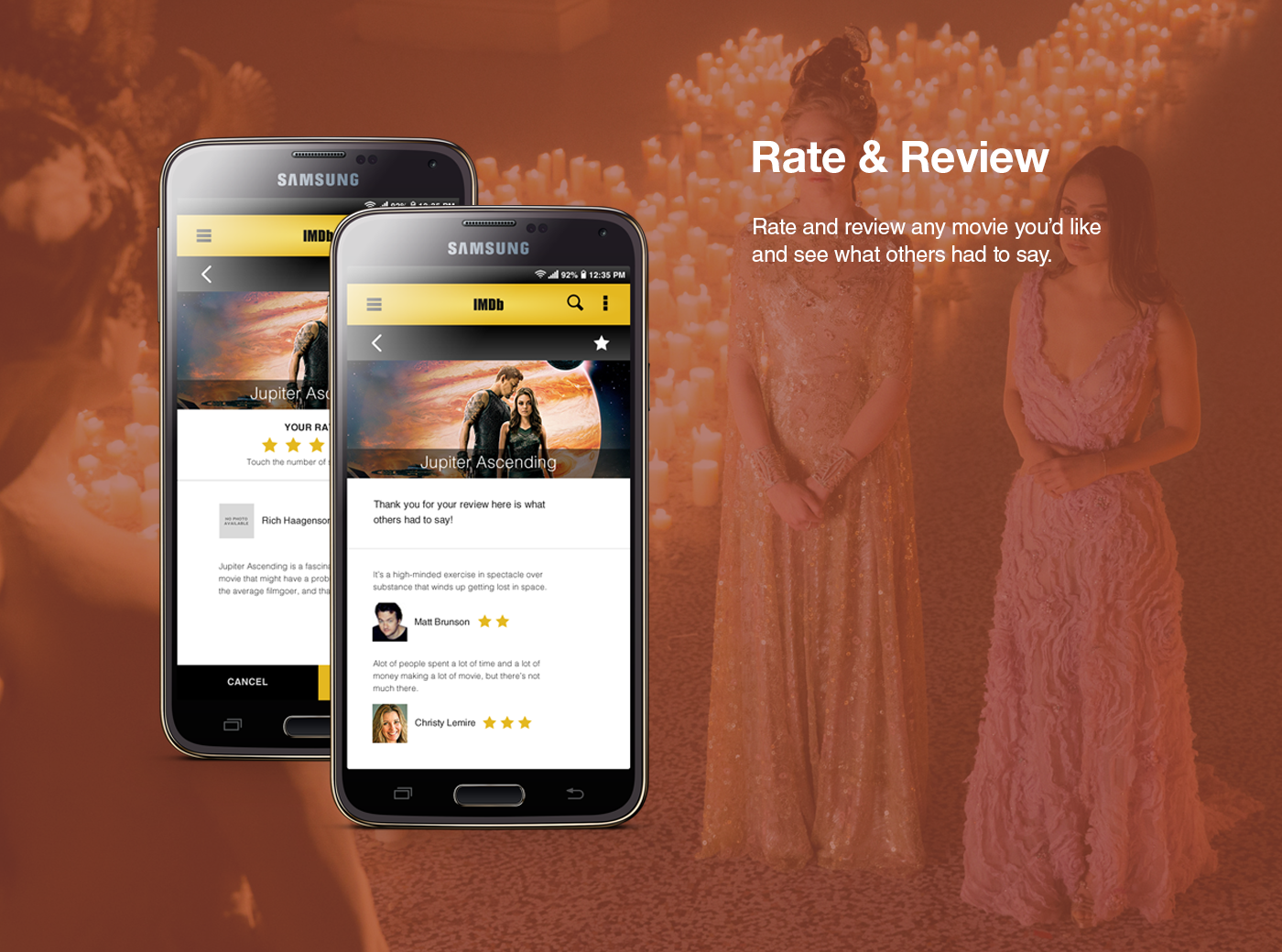 IMDb Android App Concept on Behance