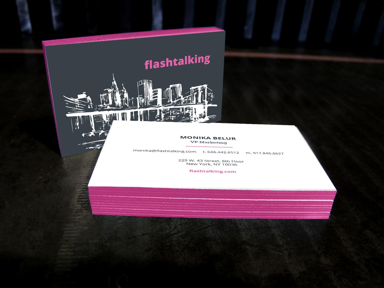 Britta Hoskins - Flashtalking Business Cards