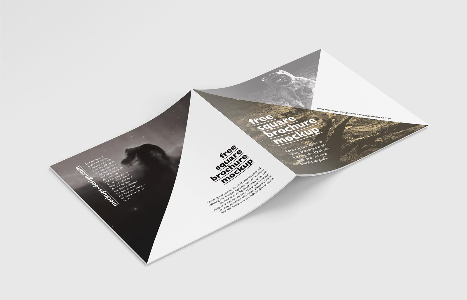 free square brochure mockup on behance