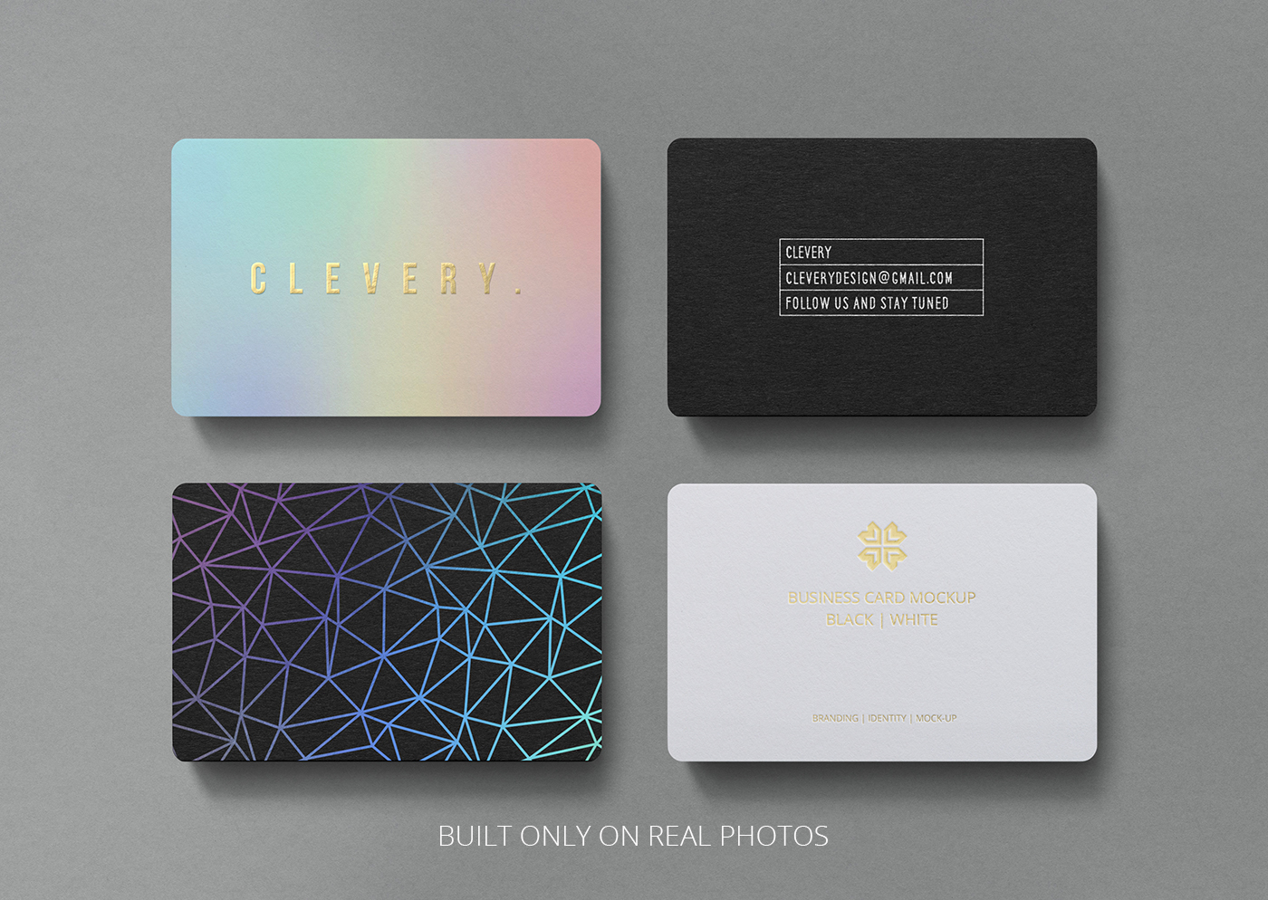 photorealistic business card mockup round corners on behance