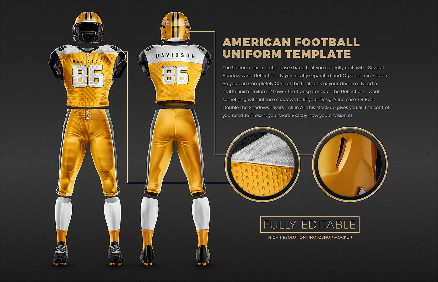 Touchdown Football Uniform Mockup On Behance