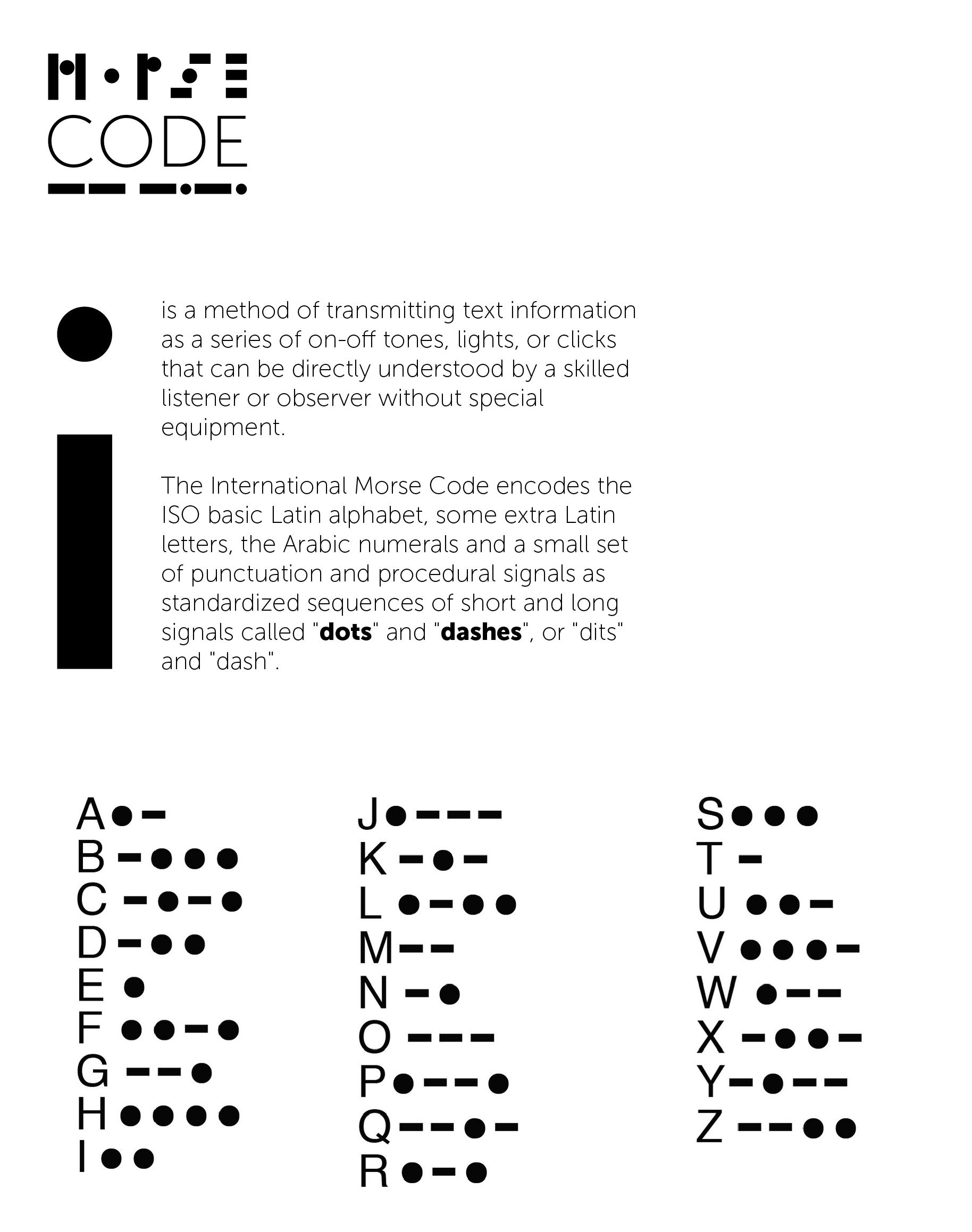 Morse Code Typeface On Behance