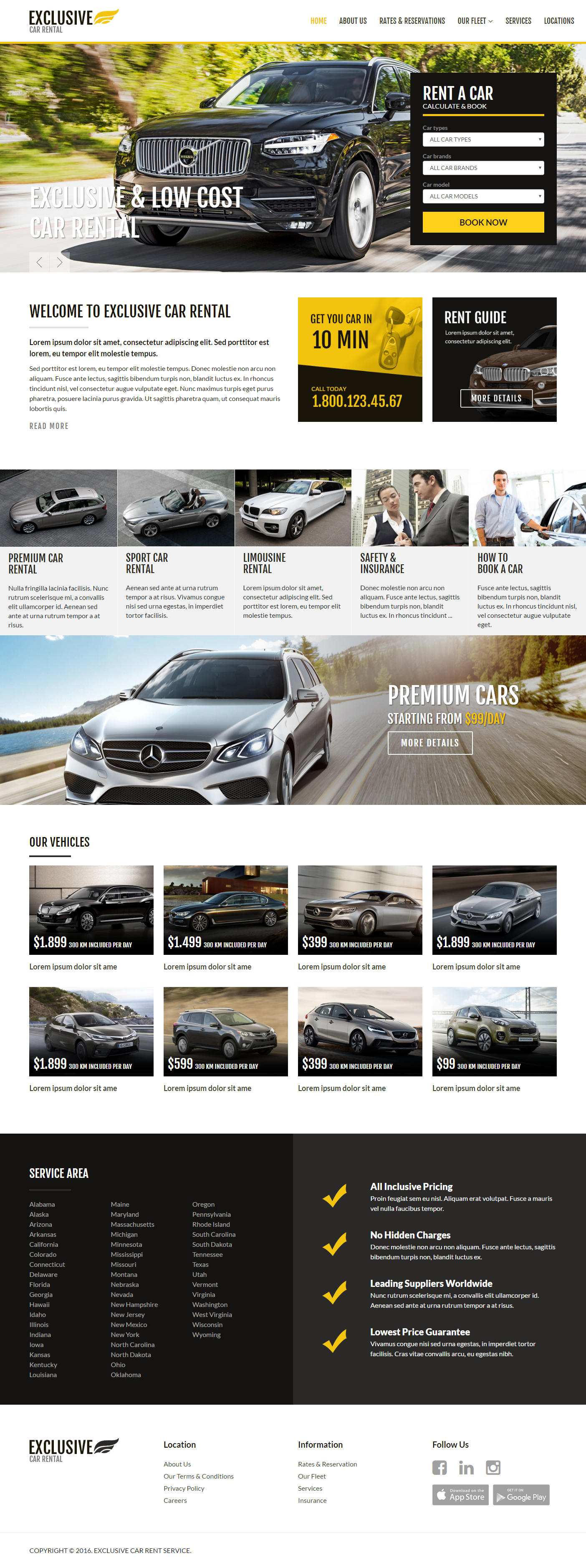 a car HTML Template on Behance