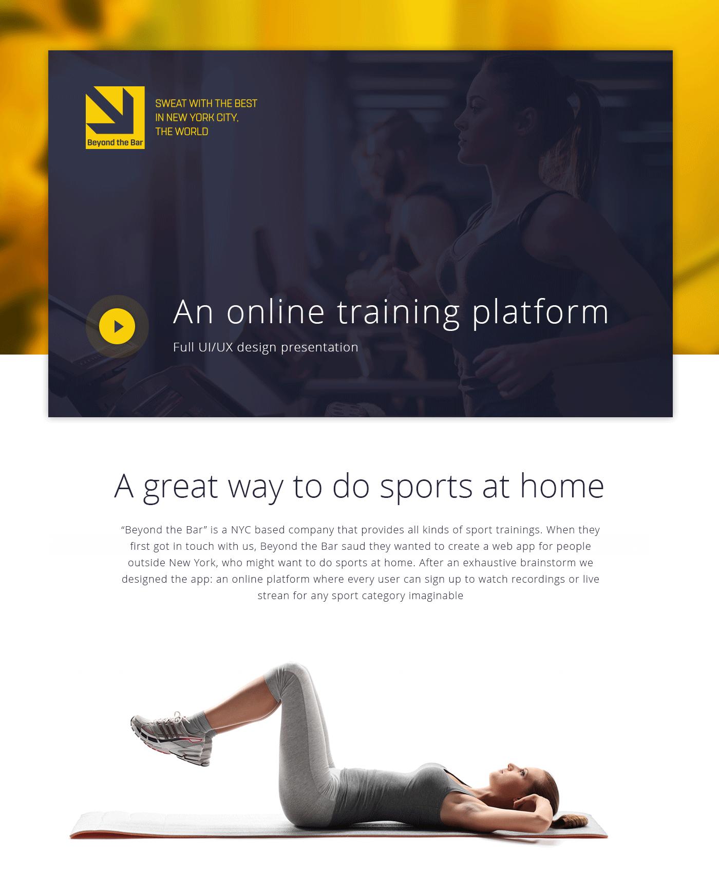 Beyond the Bar - Online web App on Behance