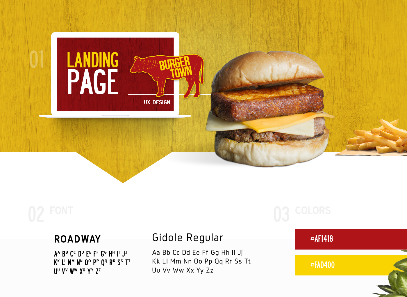 Landing Page Burguer Town On Behance