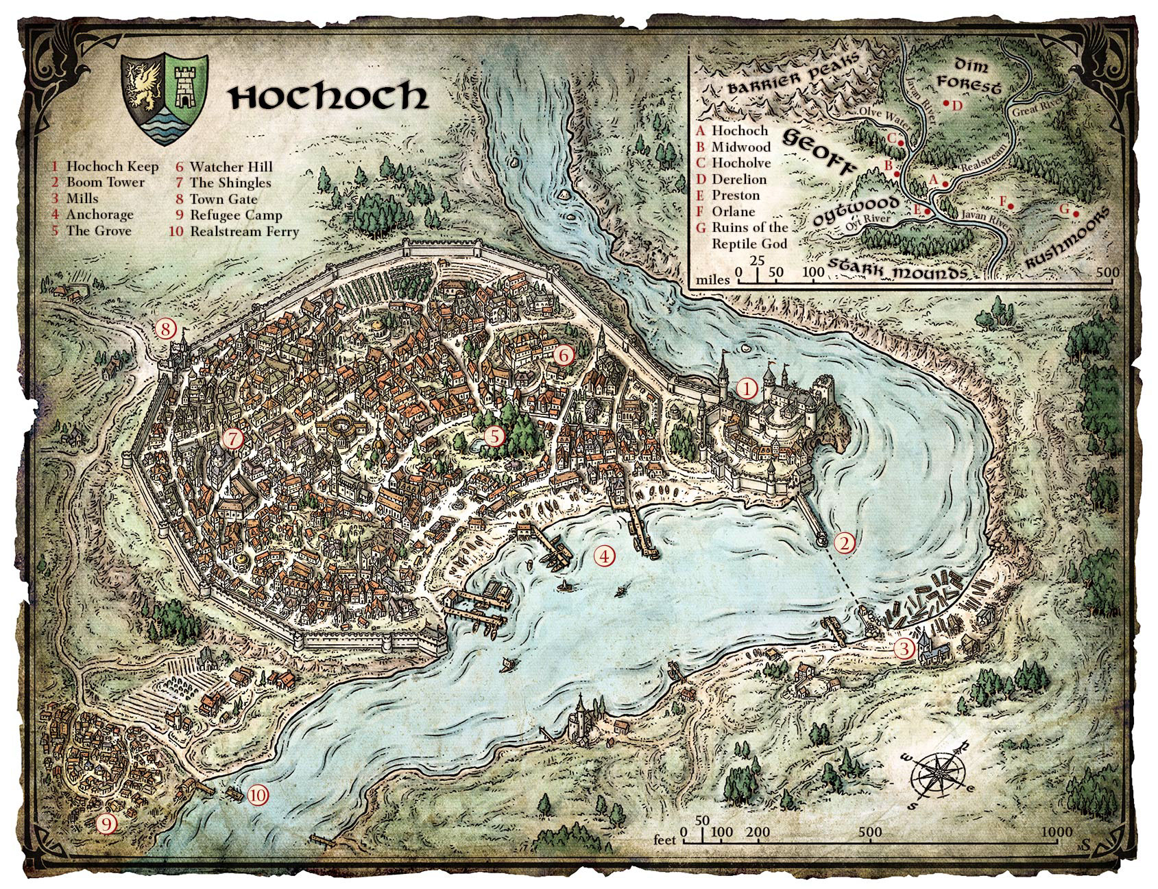 Map of Hochoch