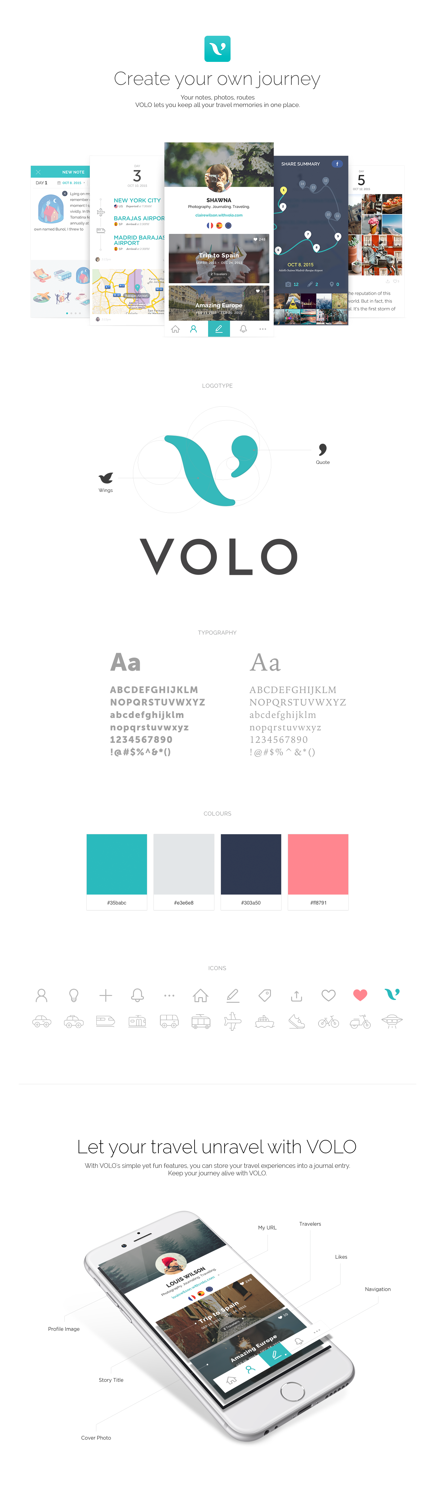 volo your travel journal on behance