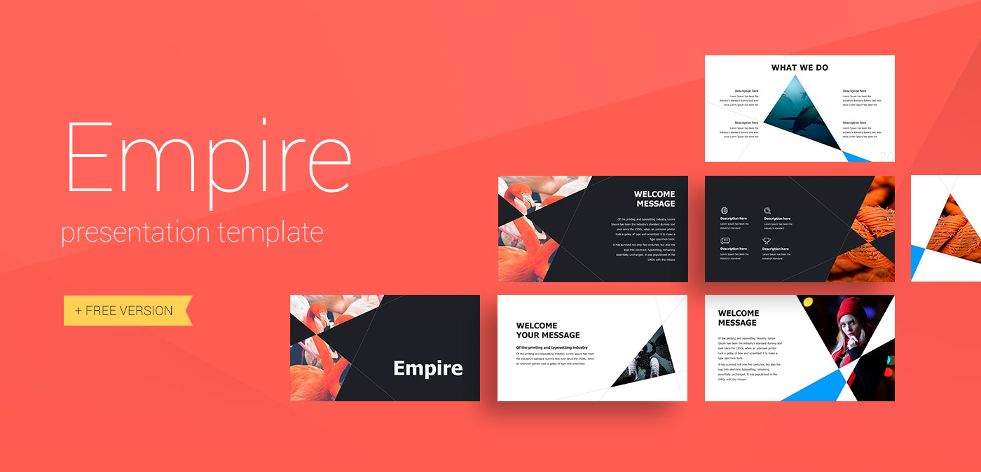 empire presentation template on behance