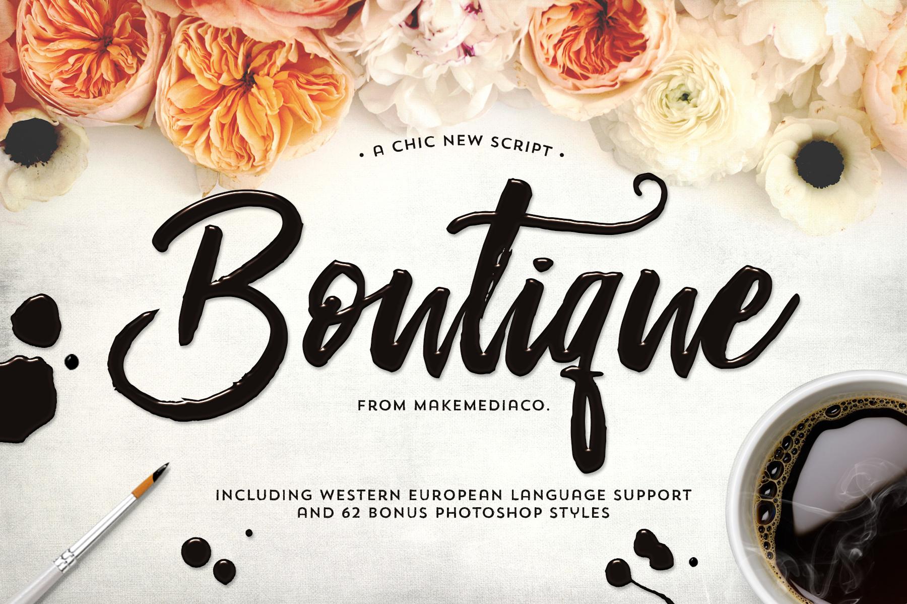 Boutique script 62 psd styles on behance publicscrutiny Gallery
