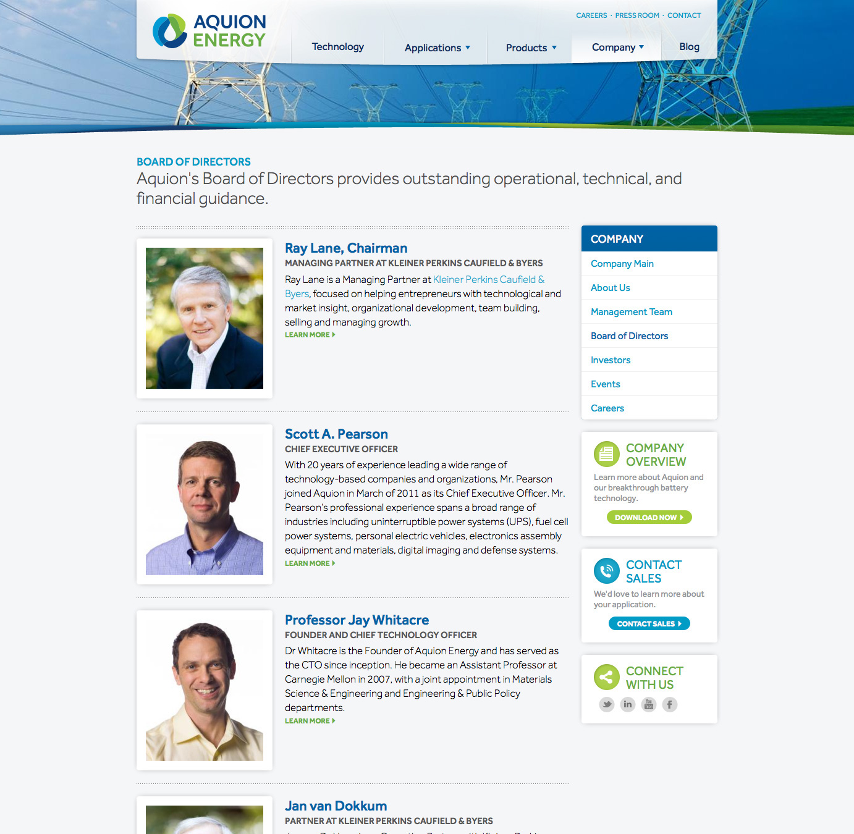 Aquion Energy Website and Branding on Behance