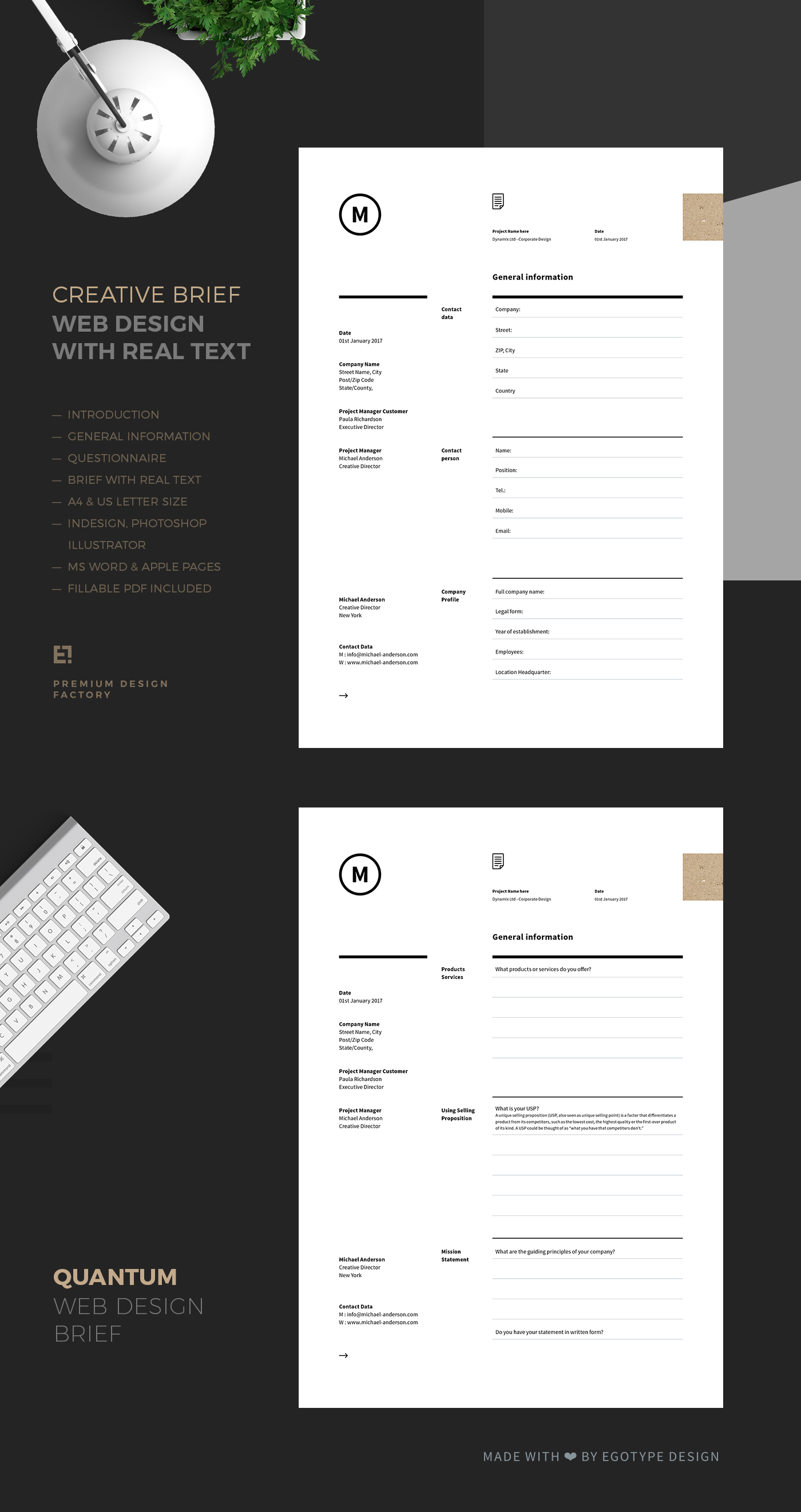 Brief Documents for Web Design on Behance