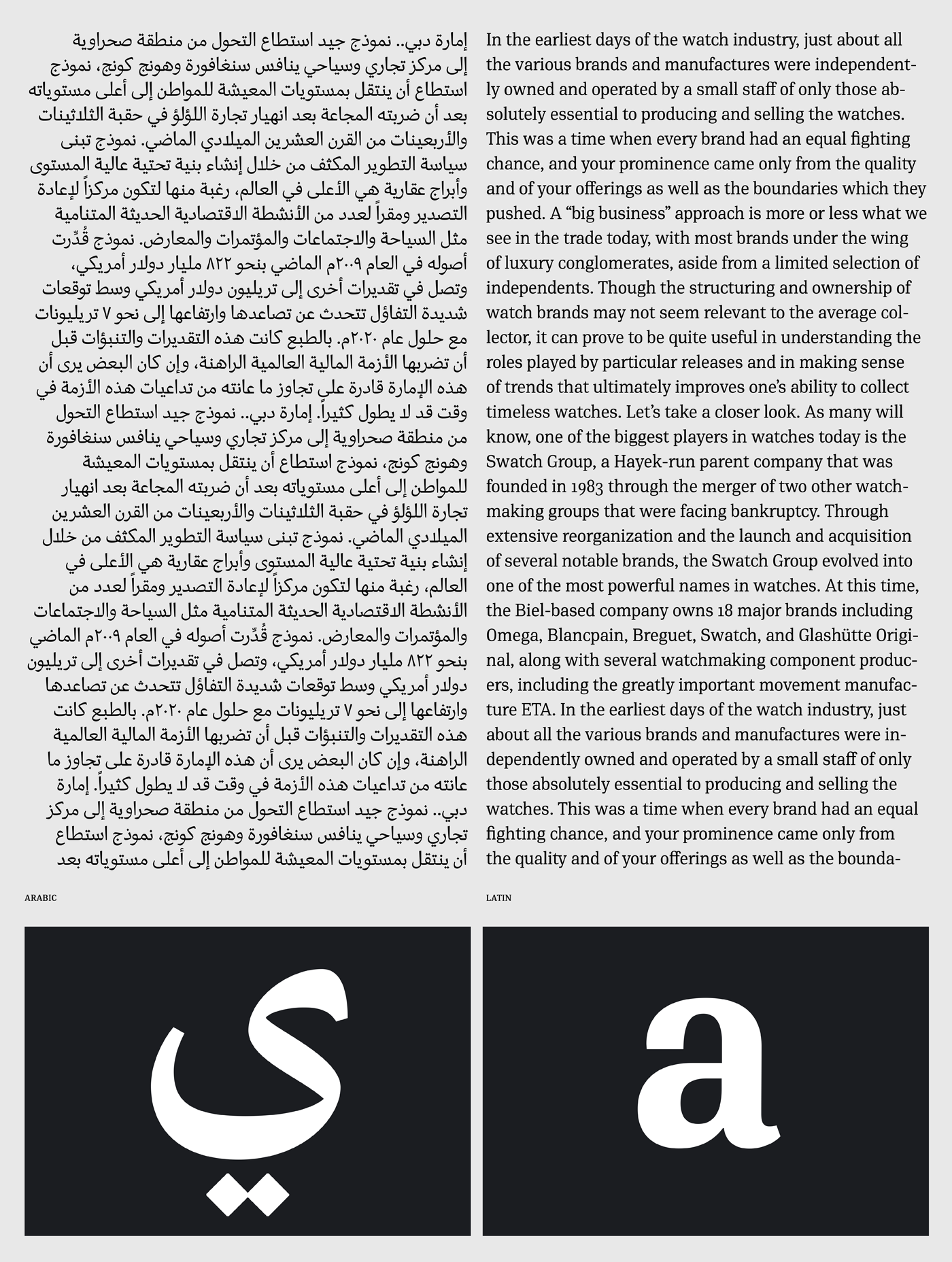Pf Din Serif Arabic On Behance