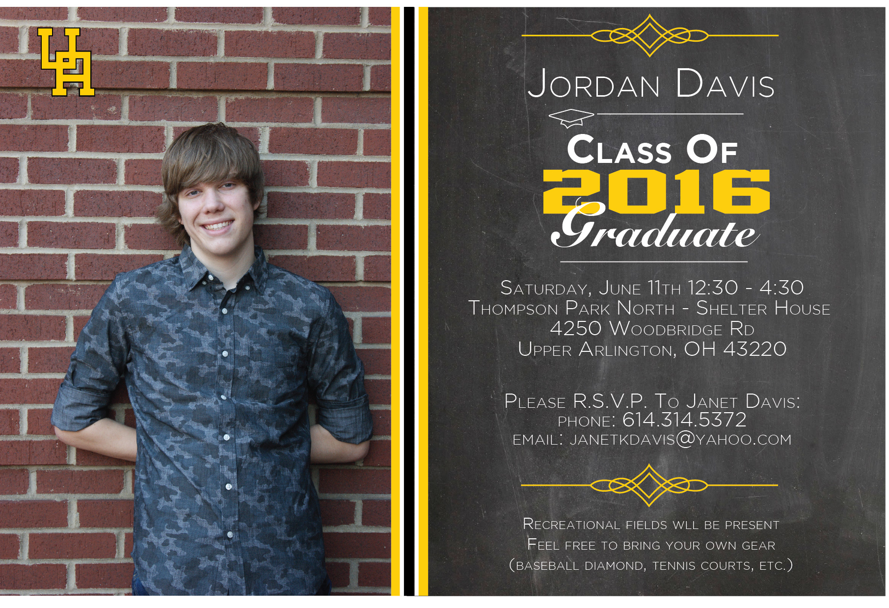 jay davis high school graduation invitation