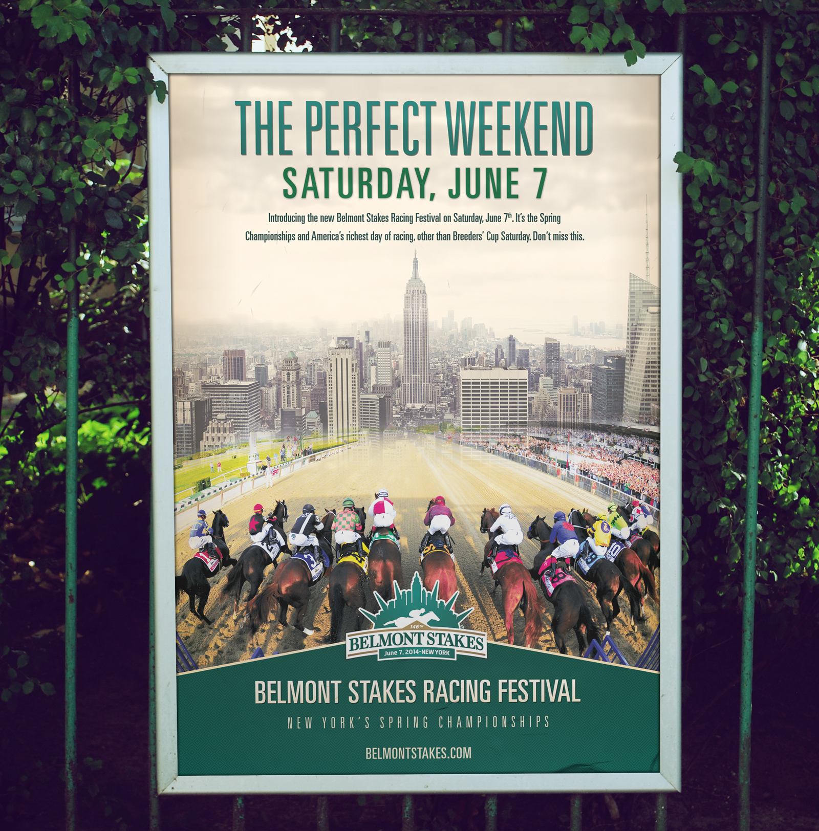 Belmont Stakes poster