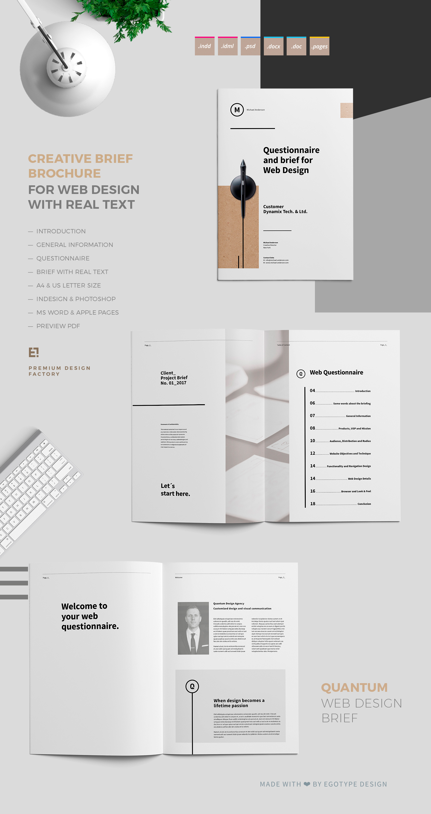 Questionnaire and Brief for Web Design on Behance