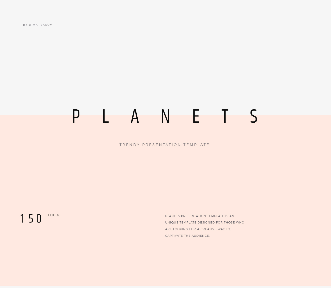 planets free presentation template on behance