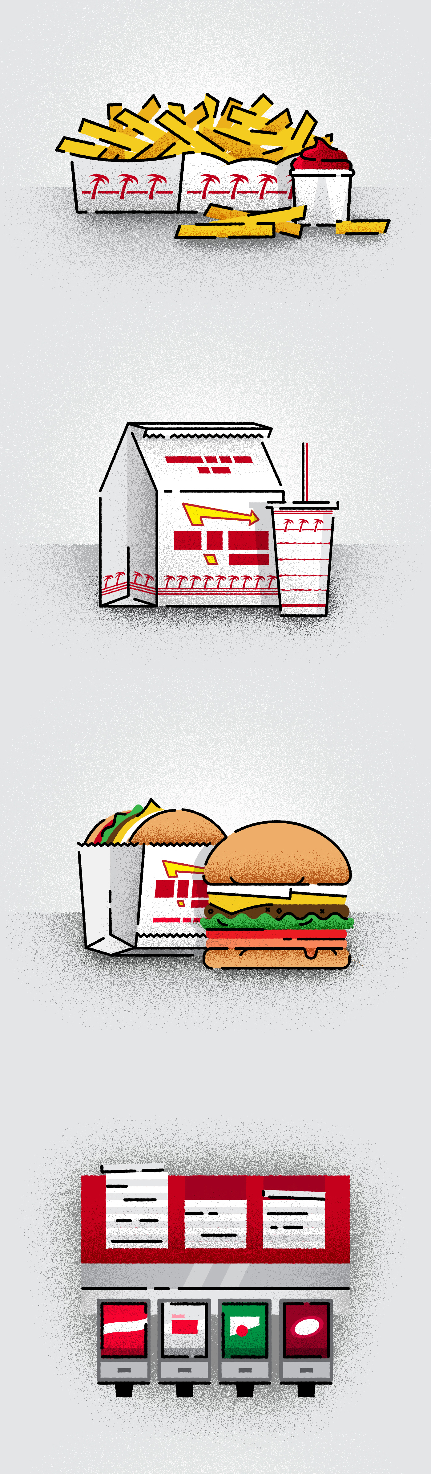 In-N-Out Icons on Behance