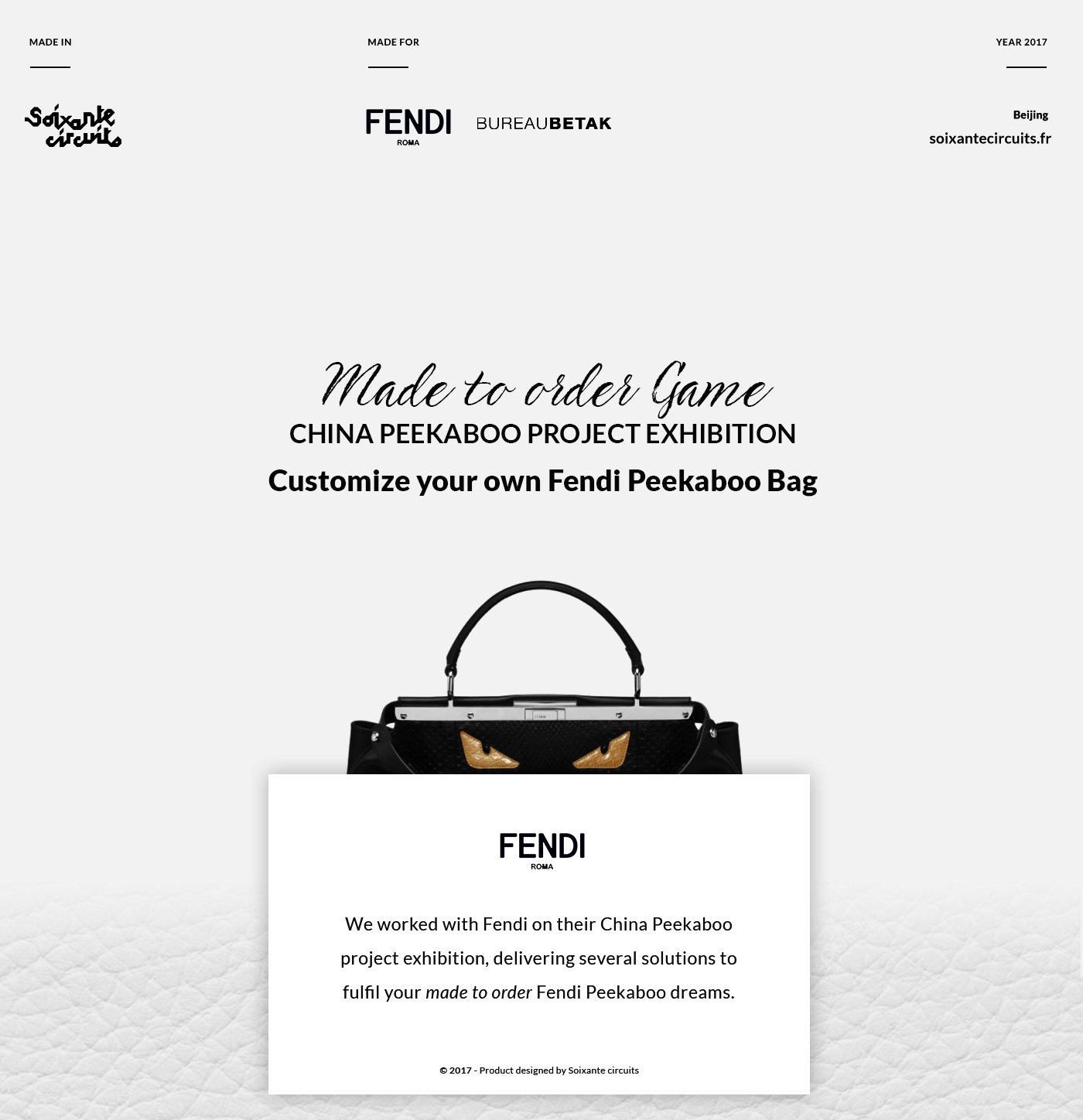 Fendi Made to order Game - China Peekaboo Project on Behance