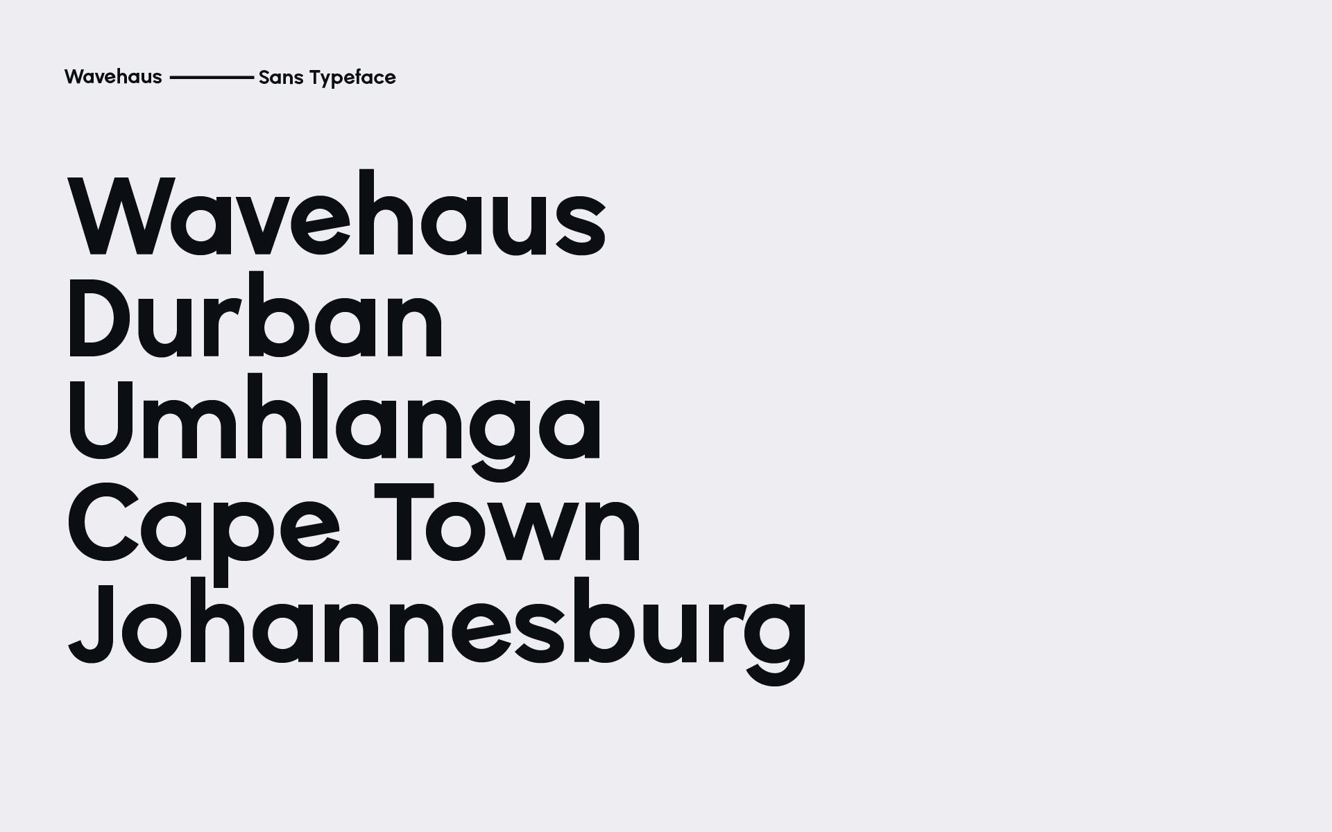 Wavehaus Sans Typeface on Behance
