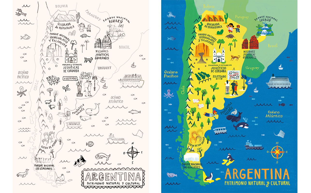 Argentina Map Puzzles On Behance - Argentina map