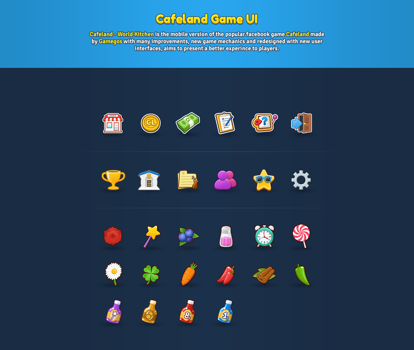 Cafeland - World Kitchen Game UI on Behance