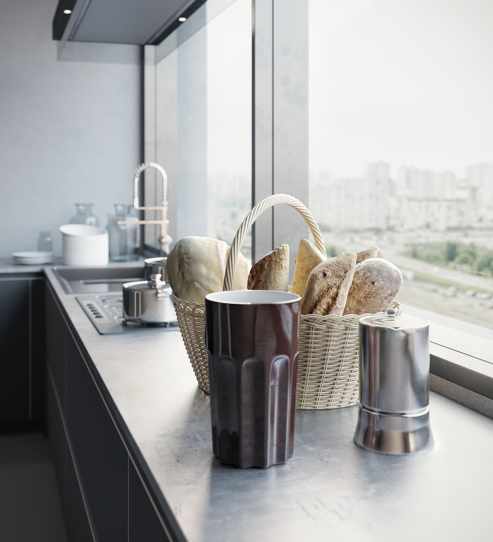 Kitchen 3D visualization Poliform on Behance