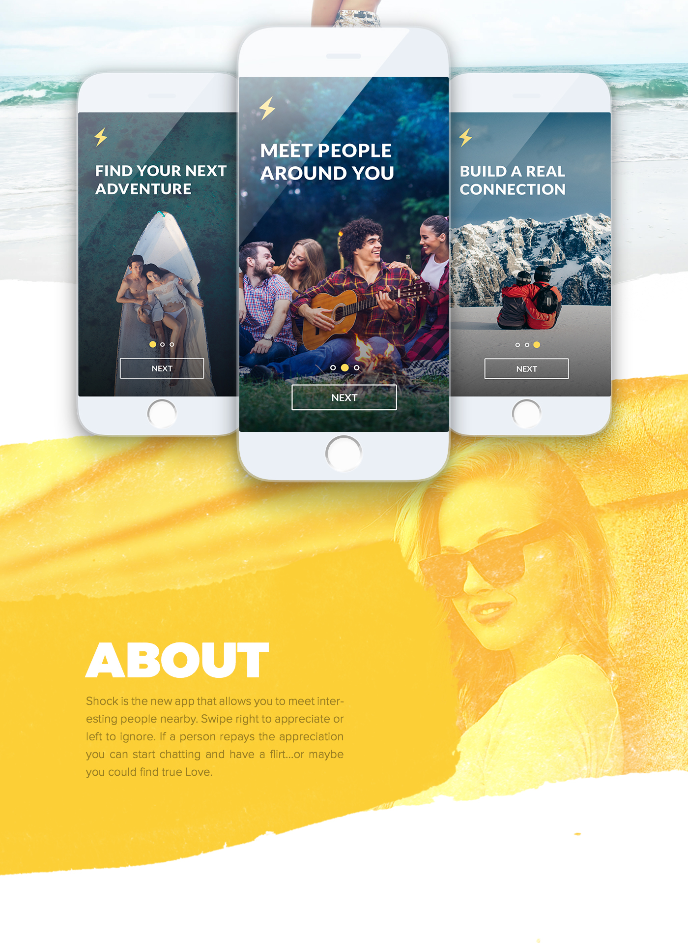 Shock - iOS & Android dating app on Behance