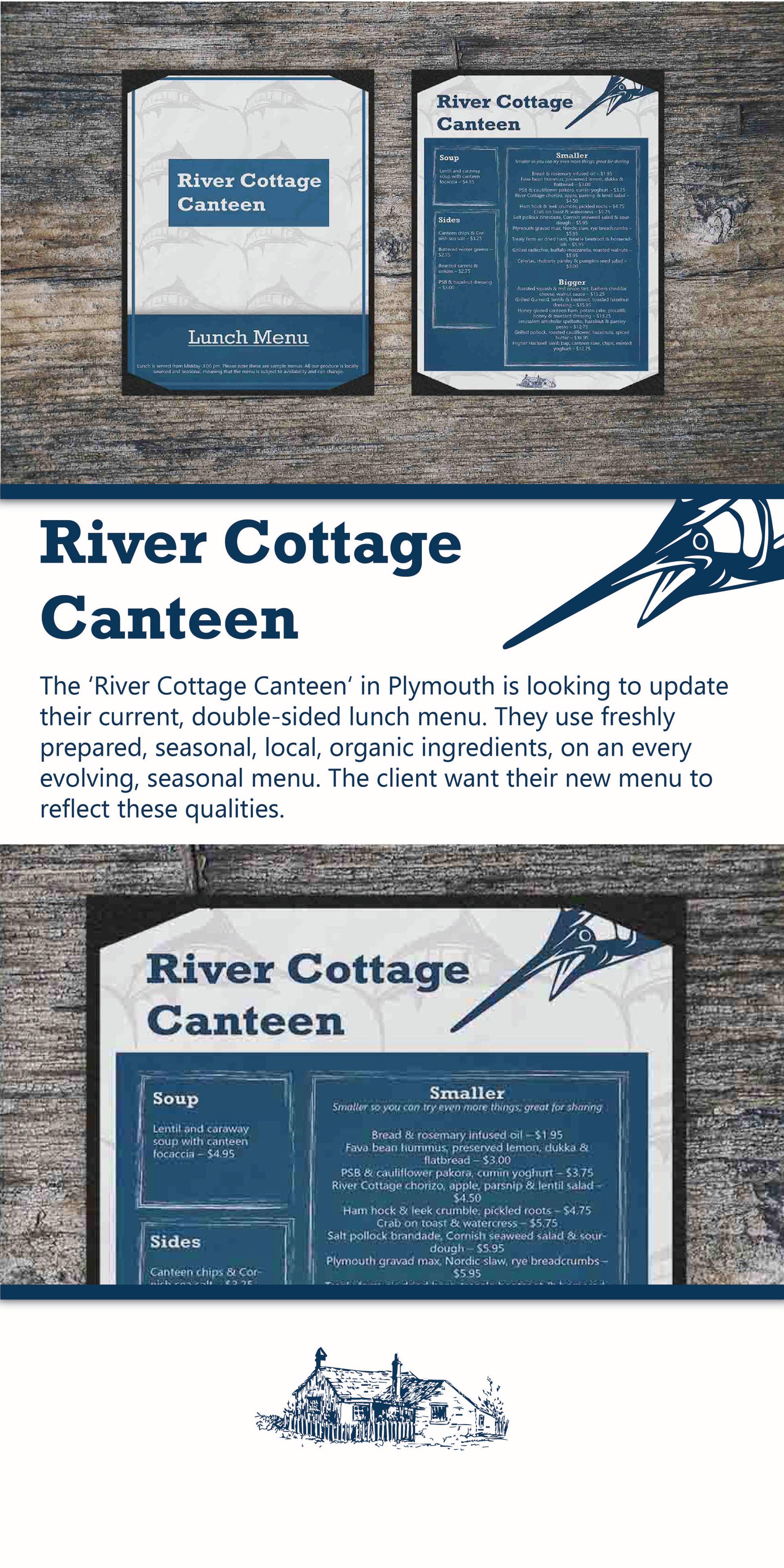 River Cottage Canteen Menu On Behance