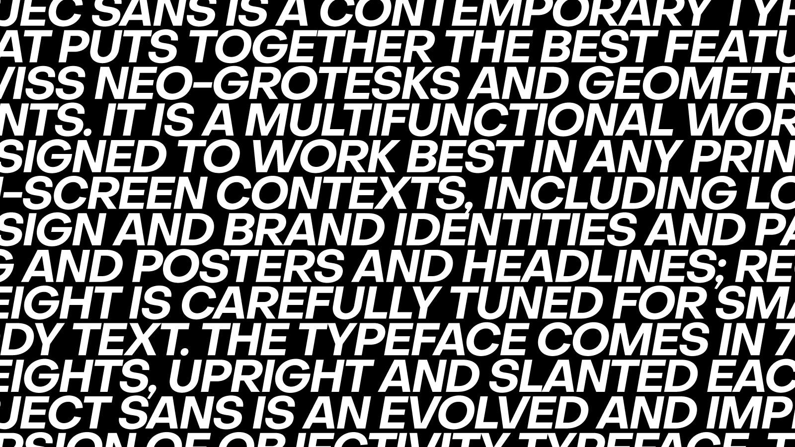 Object Sans × Free geometric Typeface By Alex Slobzheninov