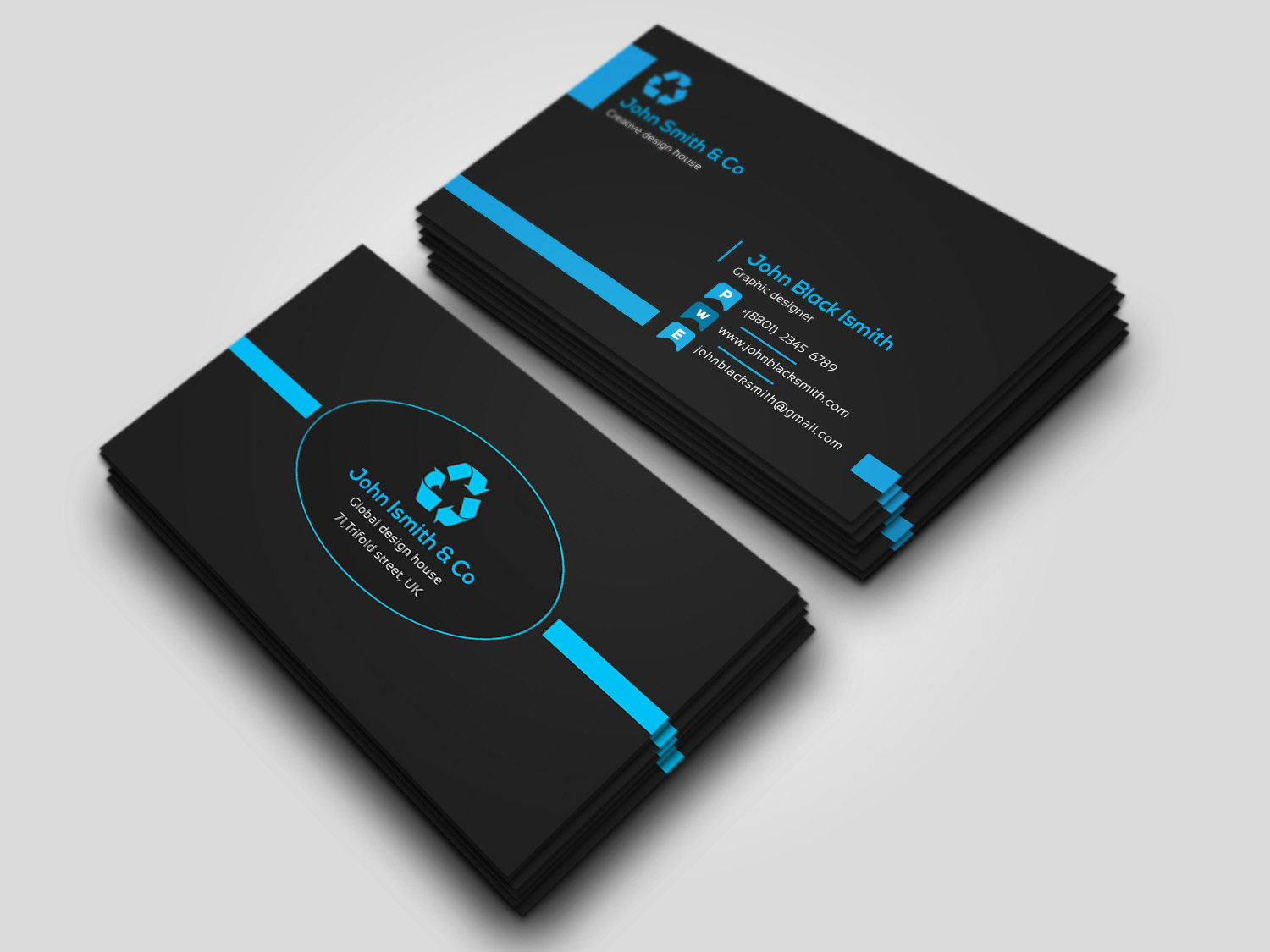 Free Business Card Template And Mockup