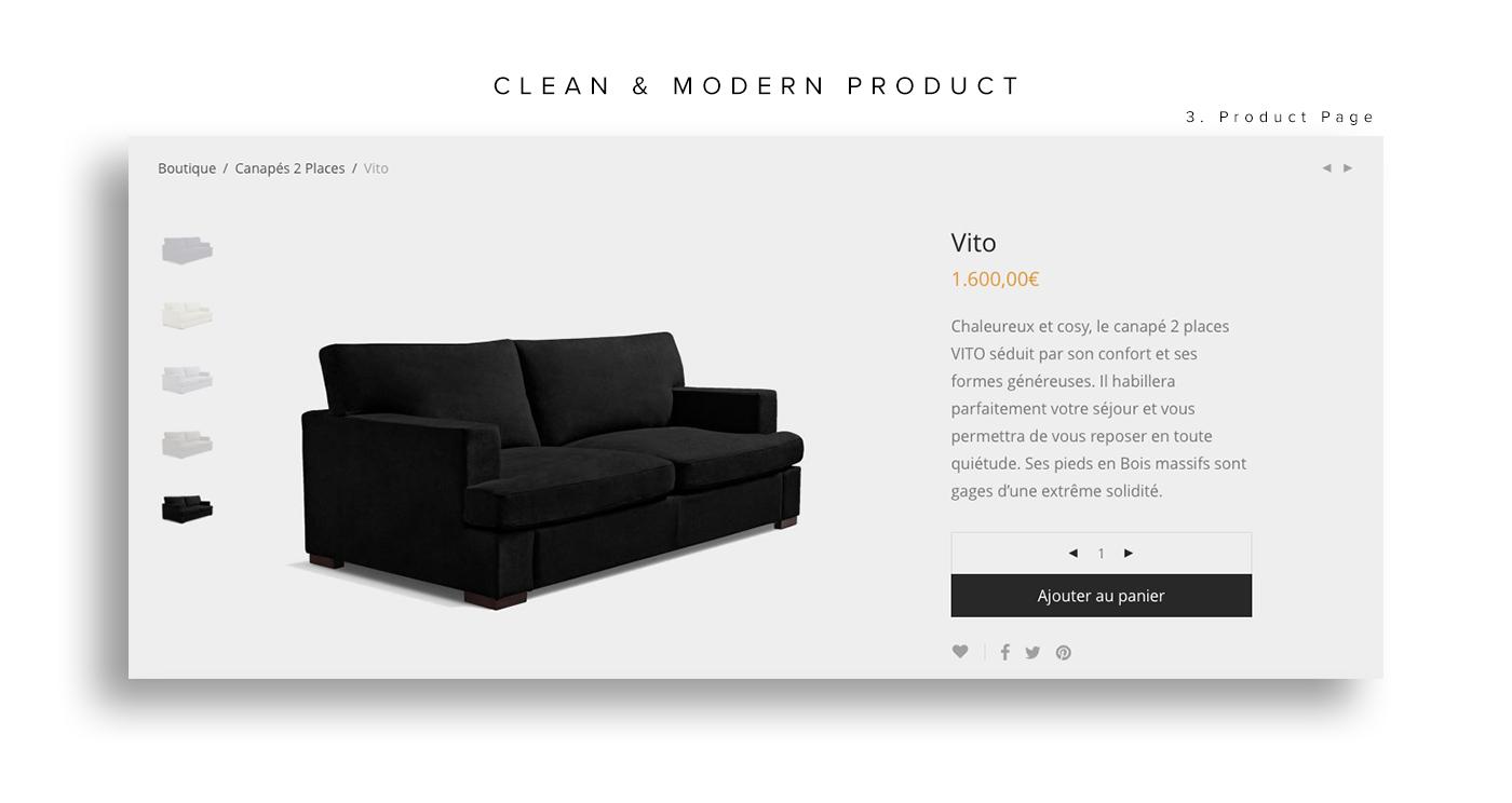 Mazzini Sofas - eCommerce on Behance