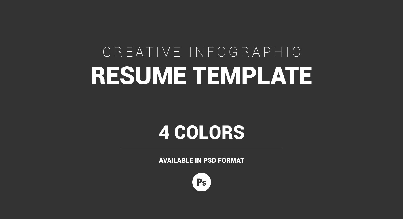 creative infographic resume template cover letter on behance
