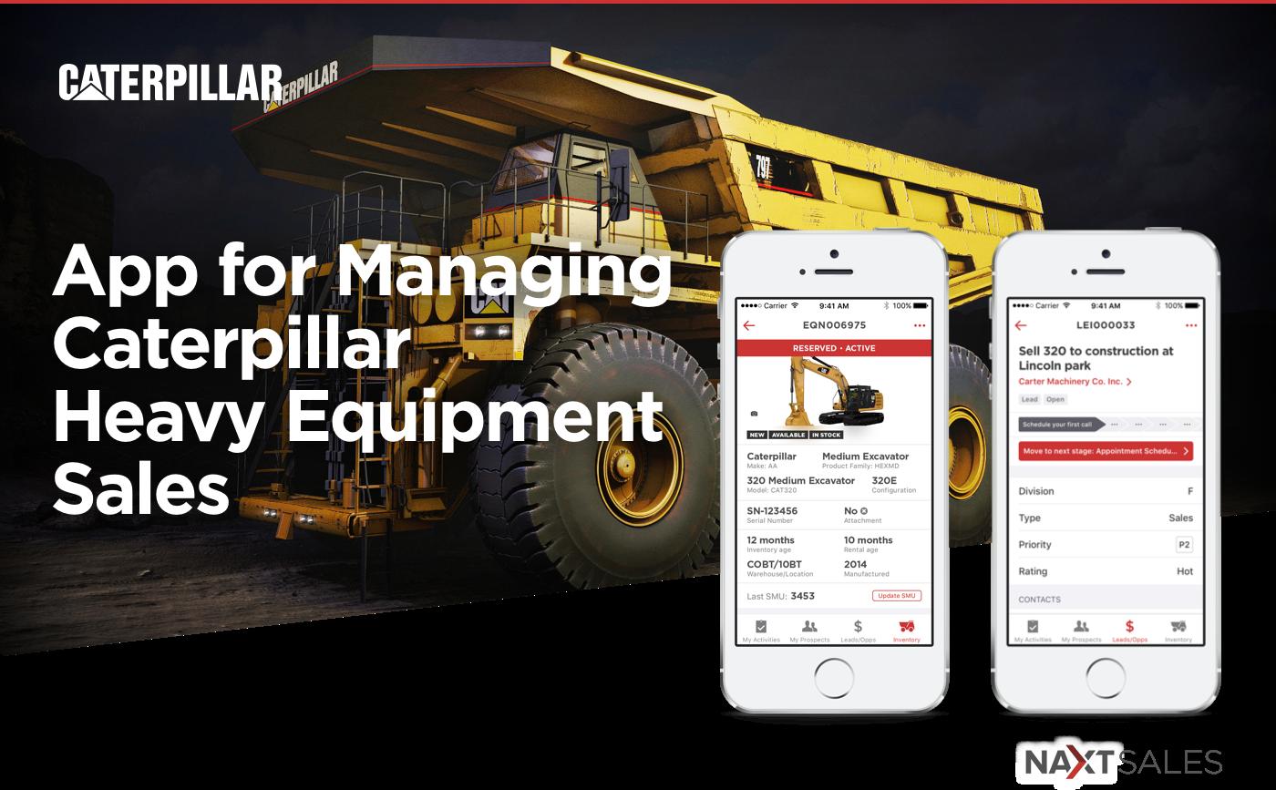 NAXT Sales - Mobile App for Selling Heavy Equipment on Behance
