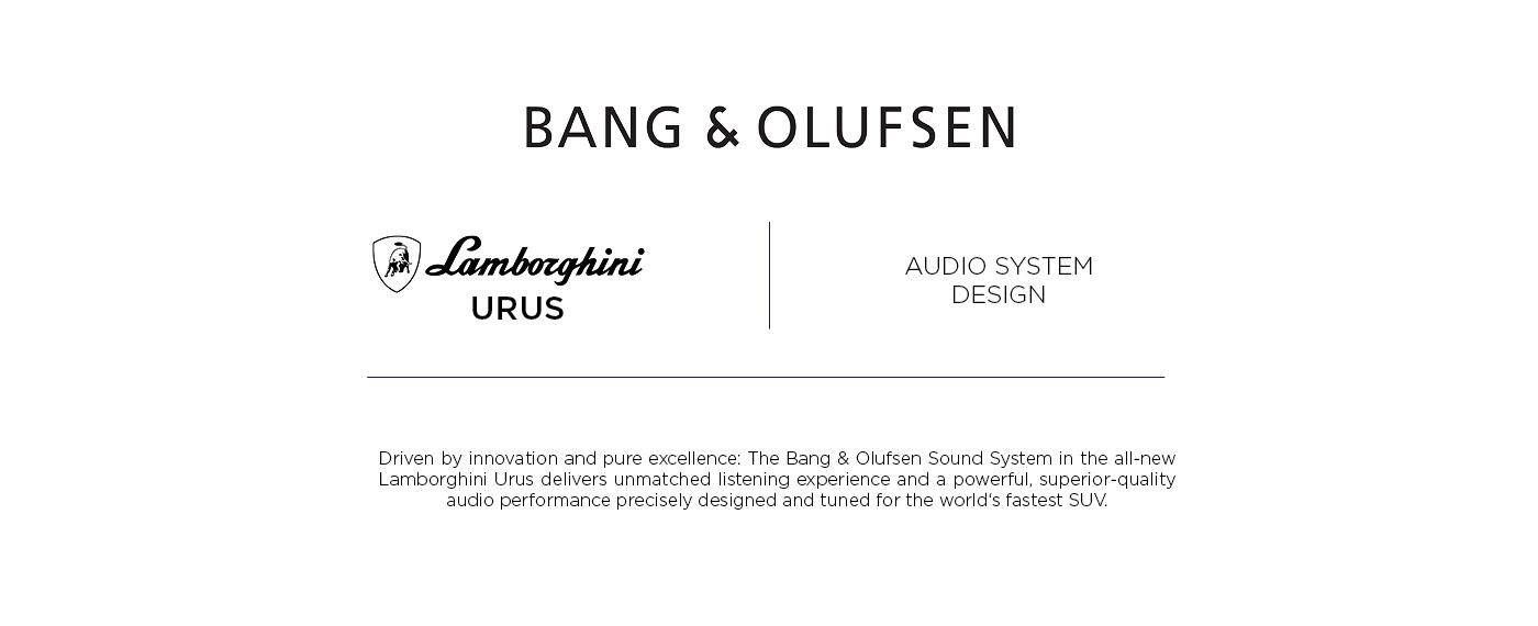Bang & Olufsen X Lamborghini Urus on Behance