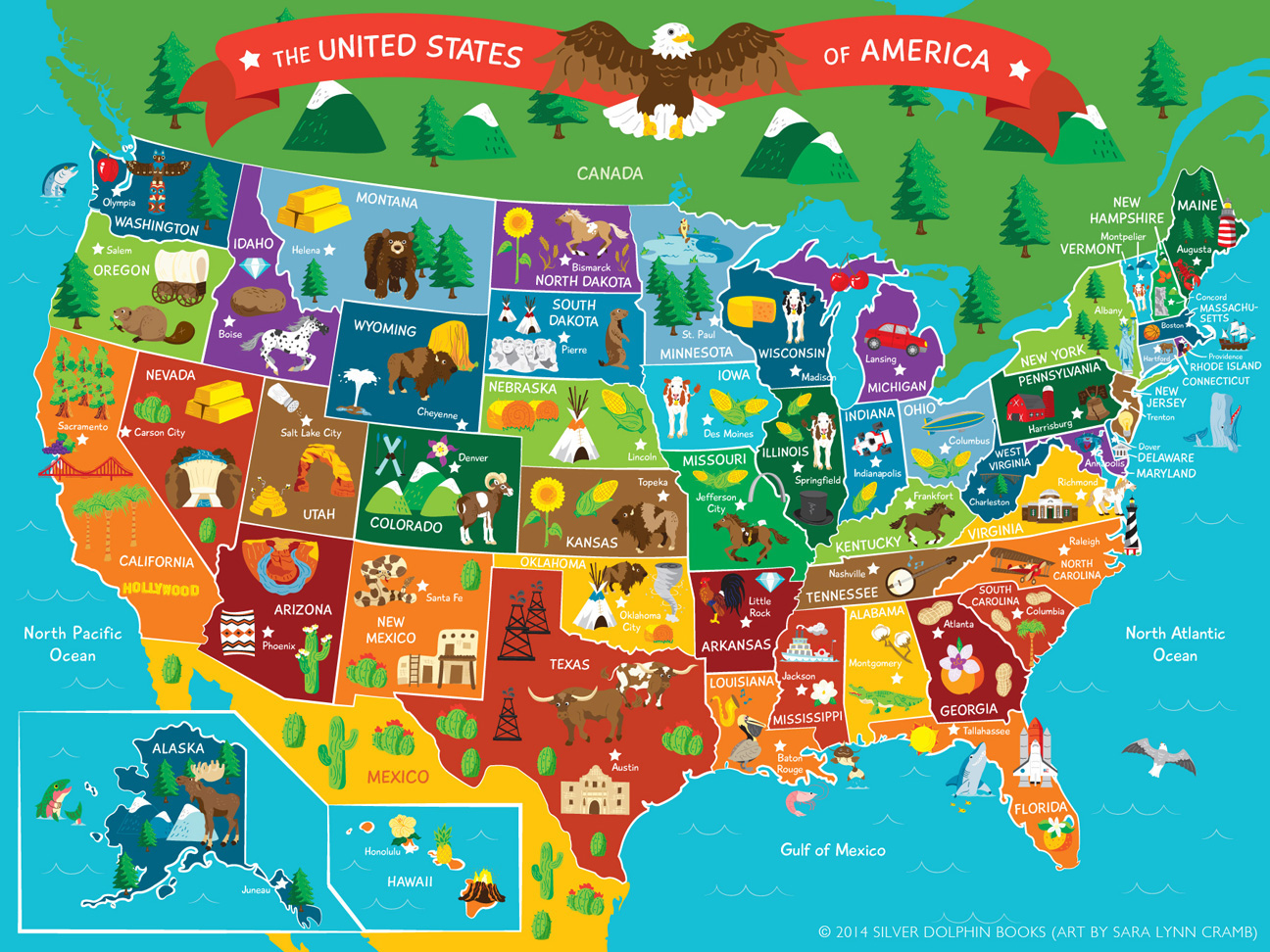 Young Explorers Fact Book Floor Puzzle 50 States on Behance
