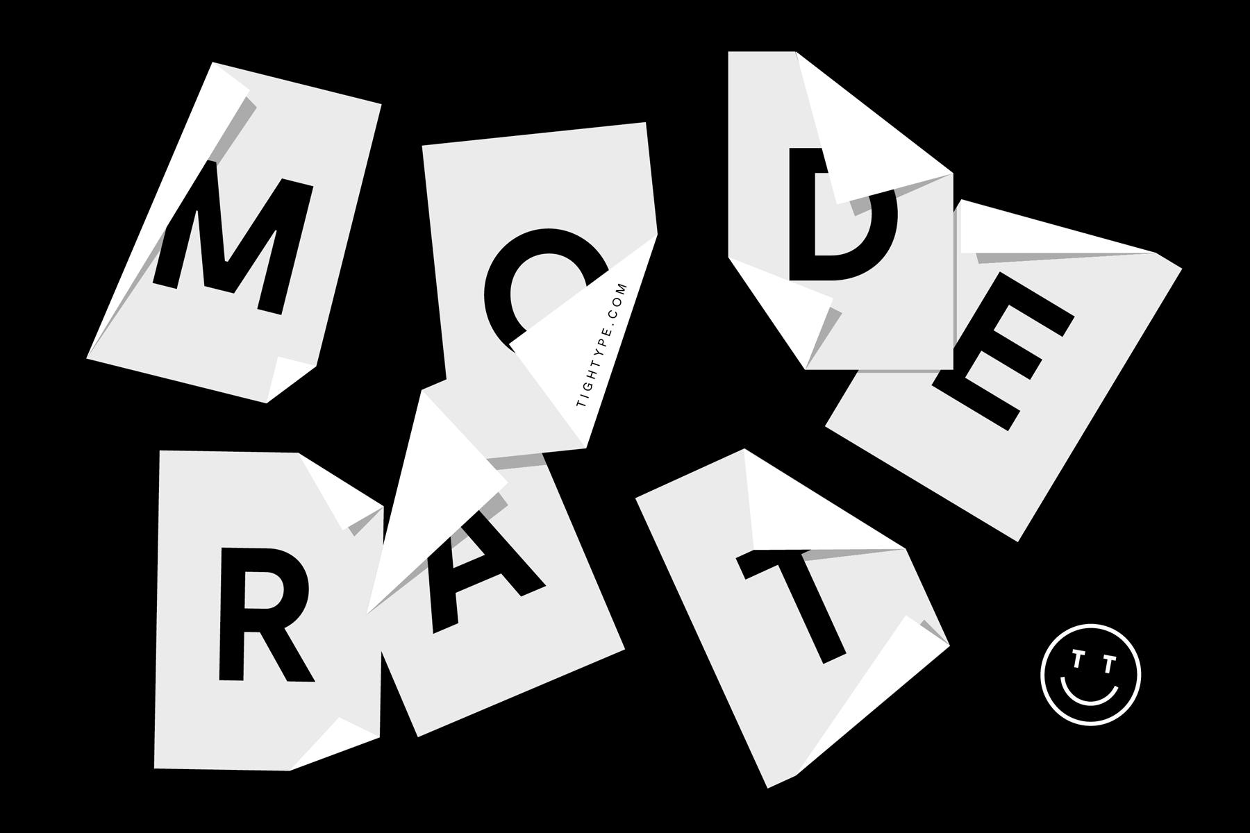 Moderat Typeface on Behance