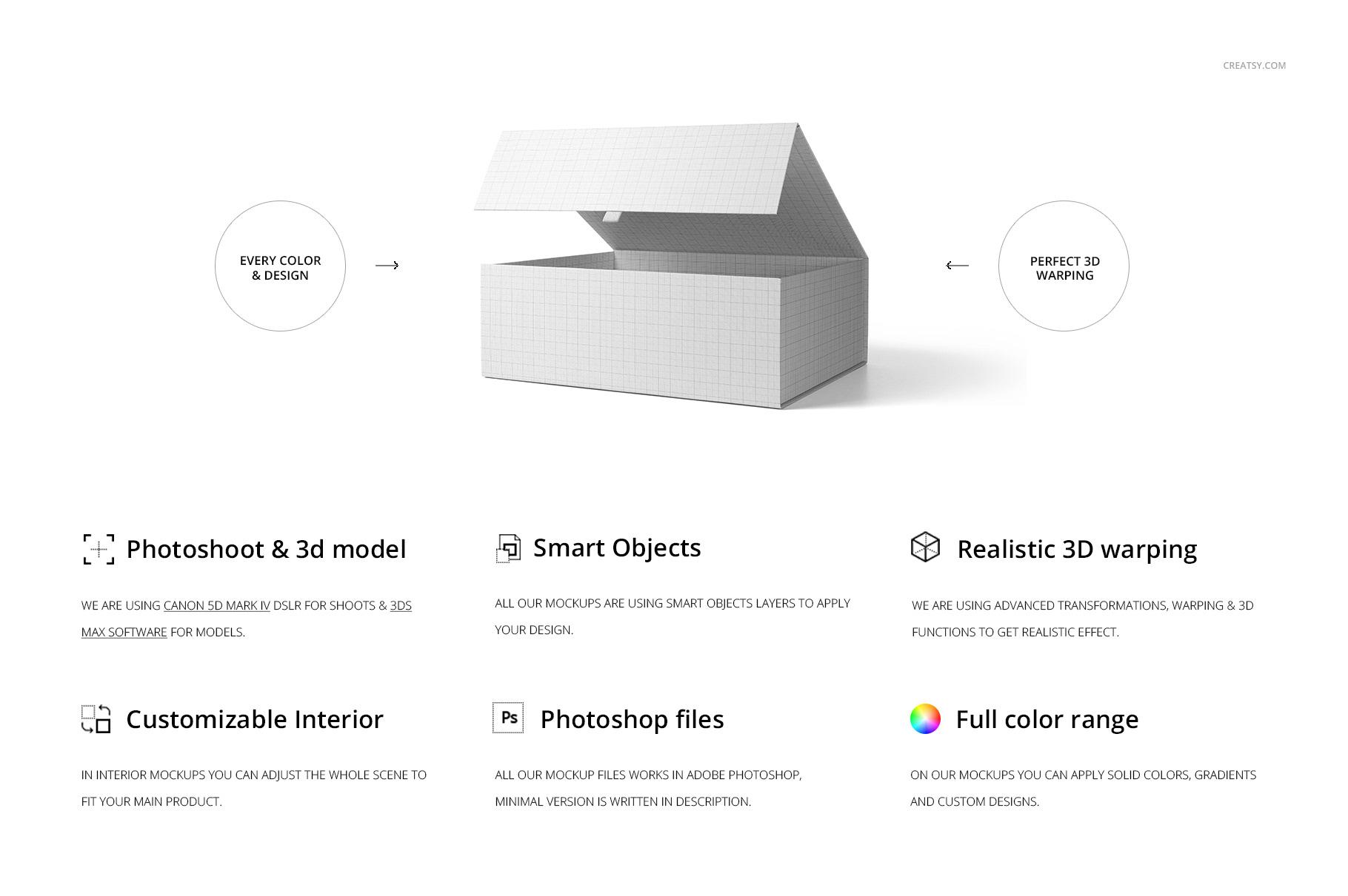 Magnetic Gift Box Mockup Set On Behance
