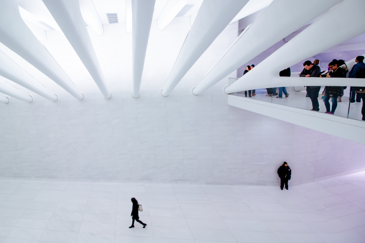 New York City: Inside the Oculus at the World Trade Center transportation hub