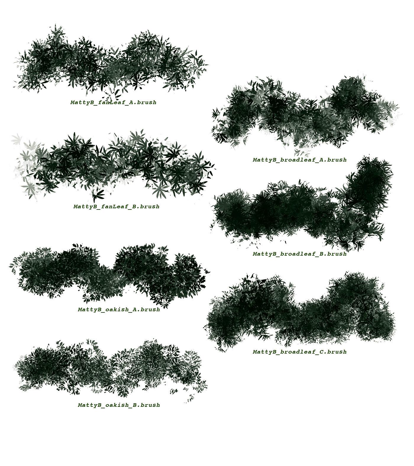 flora vegetation brushes for procreate on behance