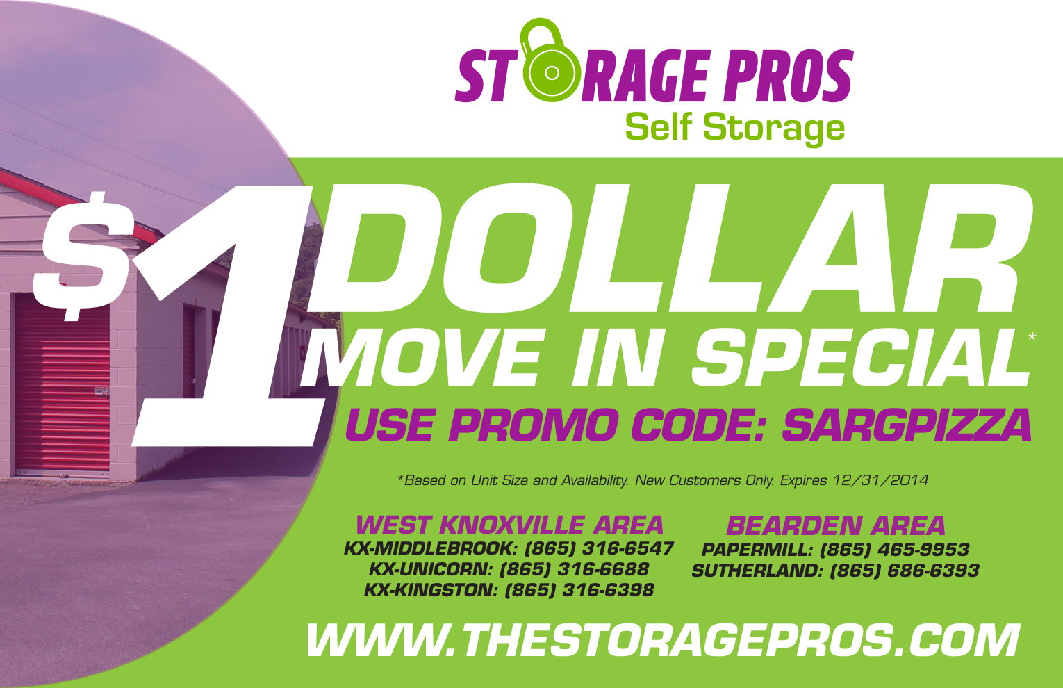 Exceptional Storage Pros: Knoxville Print Ad