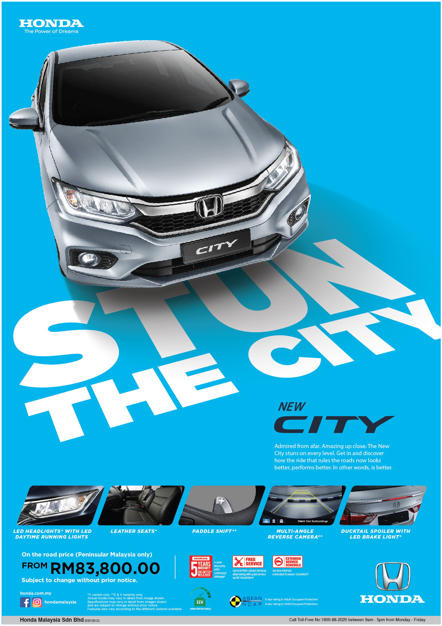 Honda City minor model change on Behance