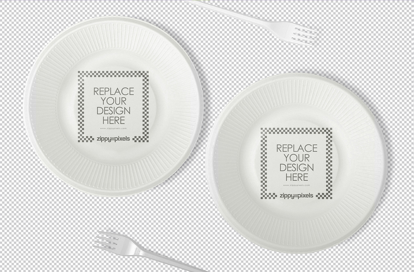 free disposable plate mockup on behance