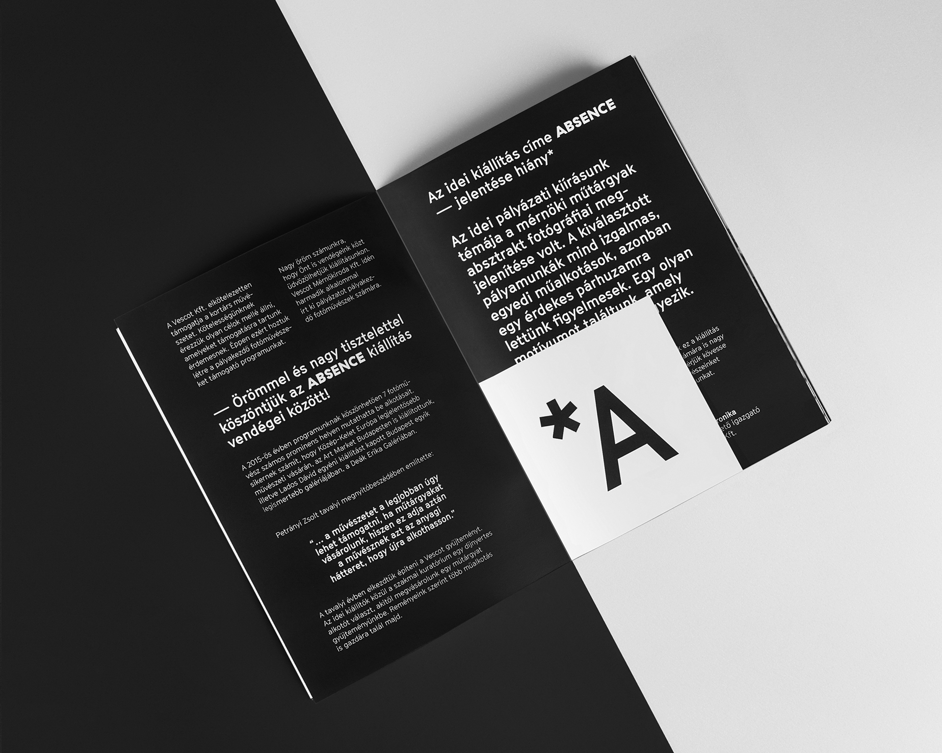 Absence Exhibition Identity On Behance