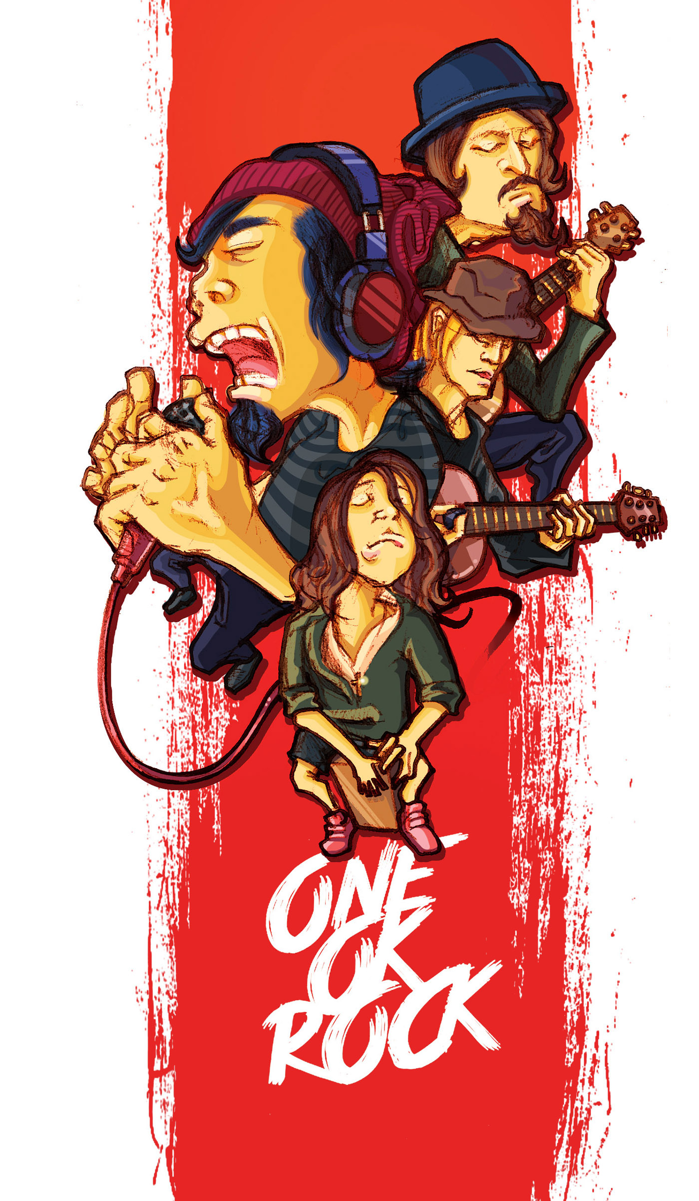 One ok rock caricature on behance one ok rock voltagebd Images