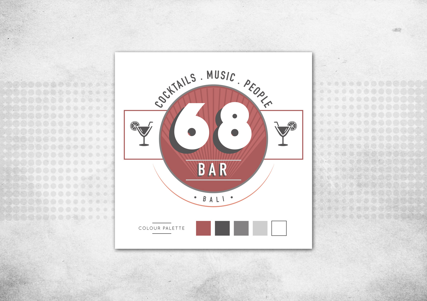 Famoso BAR 68 - Logo Design on Behance LO49