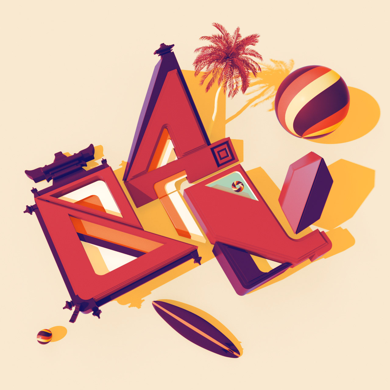 Animated Typography Travel by DAZZLE SHIP™