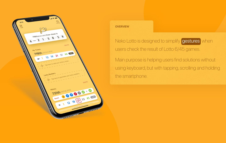 Nekolotto App UI/UX design : Lottery App for lotto 6/45 on Behance