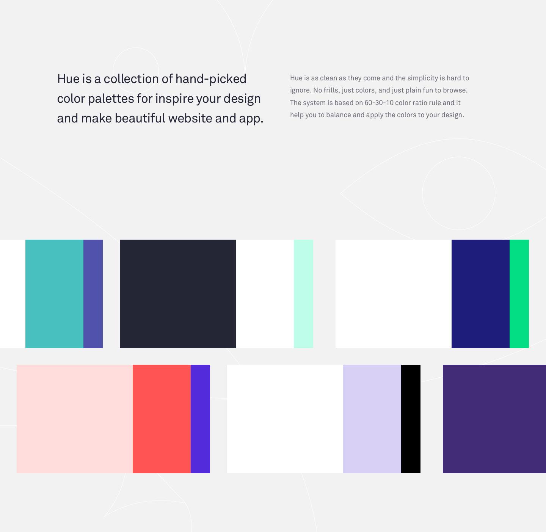 Hue Free Website App Color Palettes On Behance